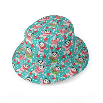 Panda hat in oilcloth