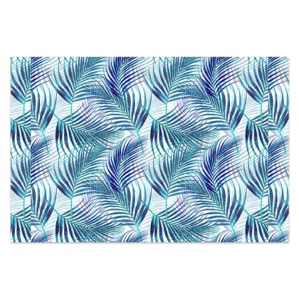 Tropical Garden in Blue Collection Sarong