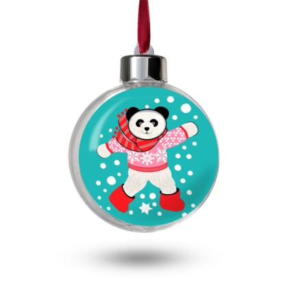 Panda Christmas Bauble