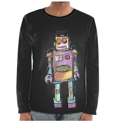 'Colin the Robot' Mens Long Sleeve Shirt