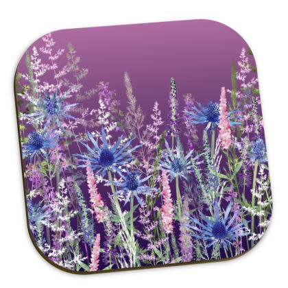'Fairytale Sunset Meadow' Coasters
