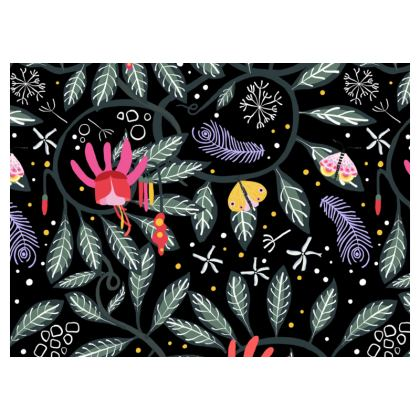 Love Flower Black Crossbody Bag With Chain
