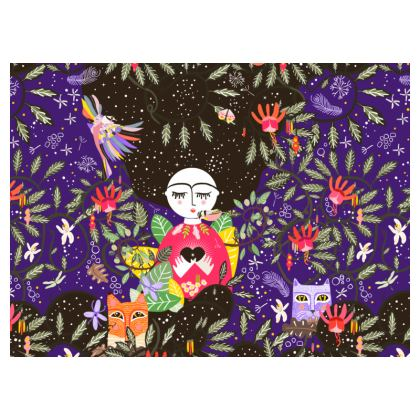 The Space within the heart Purple Crossbody Bag With Chain