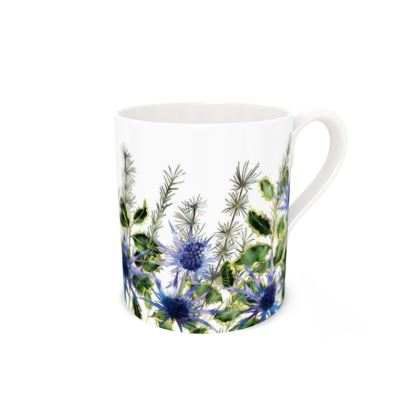 Regular Bone China Mug - Holly Bouquet
