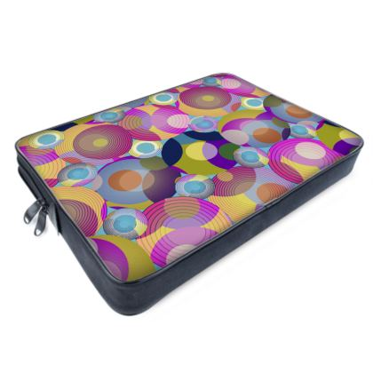 Moon Collection on blue Laptop Bag