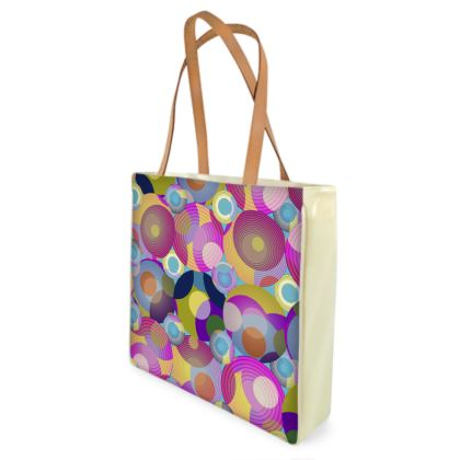 Moon Collection on blue Shopper Bag