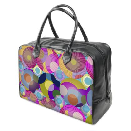Moon Collection on blue Holdall