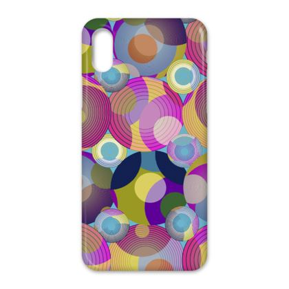 Moon Collection on blue iPhone X Case