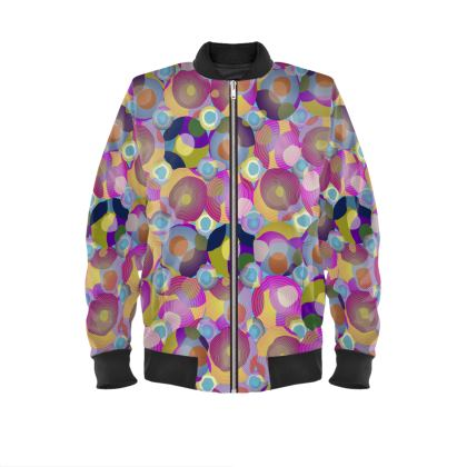 Moon Collection on blue Mens Bomber Jacket