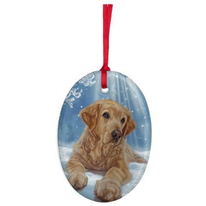 Golden Retriever Christmas Decoration Hanging Tree Ornament