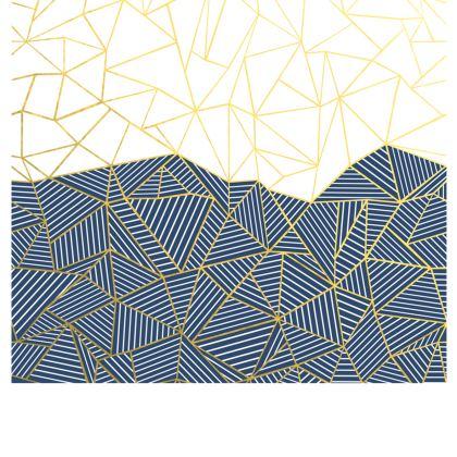 Ab Half and Half Navy Flared Skirt