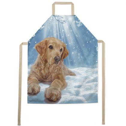 Golden Retriever Apron - All I Want For Christmas