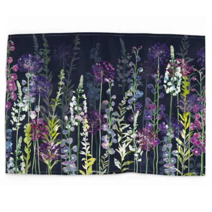 Midnight Purple Rapture Tea Towel