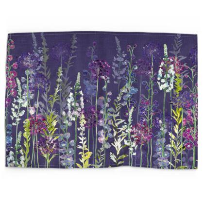 Evening Purple Rapture Tea Towel
