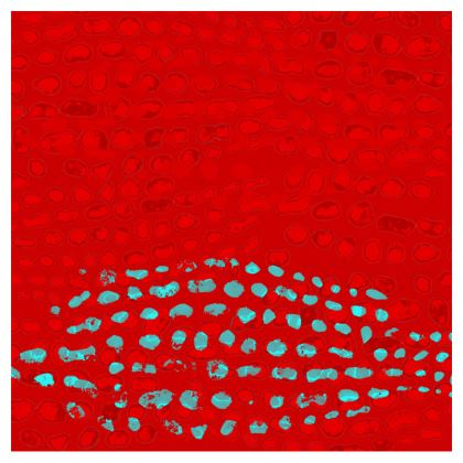 Textural Collection in red and turquoise Zip Top Handbag