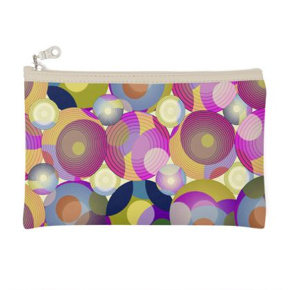 Moon Collection on cream Zip Top Pouch