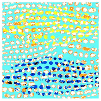 Textural Collection multicolored Zip Top Handbag