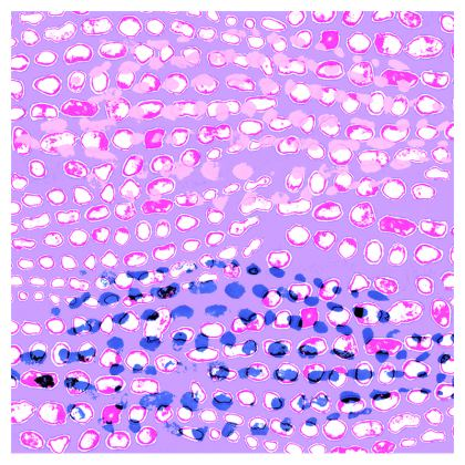 Textural Collection multicolored in mauve and blue Zip Top Handbag