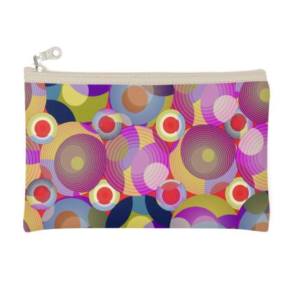 Moon Collection on red Zip Top Pouch