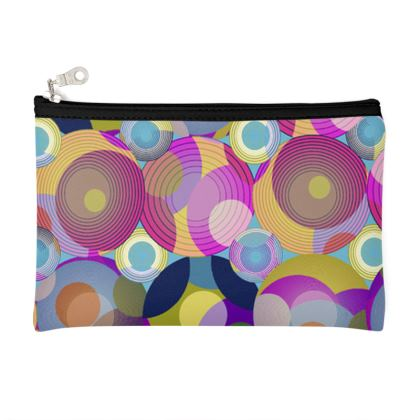 Moon Collection on blue Zip Top Pouch