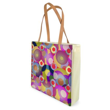 Moon Collection on red Shopper Bag