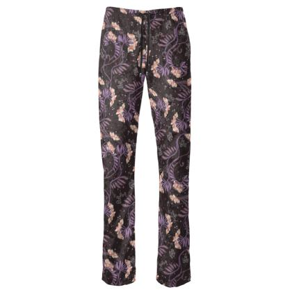 Dark Flowers Glamorous Womens Trousers