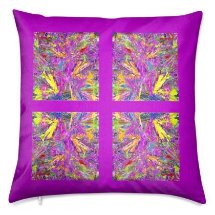 Wings of Paradise - Luxury Cushions - Purple