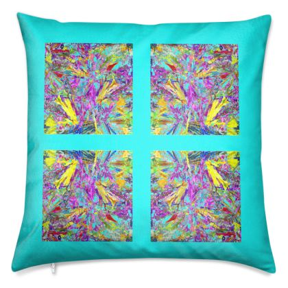 Wings of Paradise - Luxury Cushions - Teal
