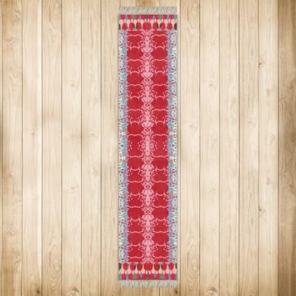 Extra Long Red Teasel Runner Rug