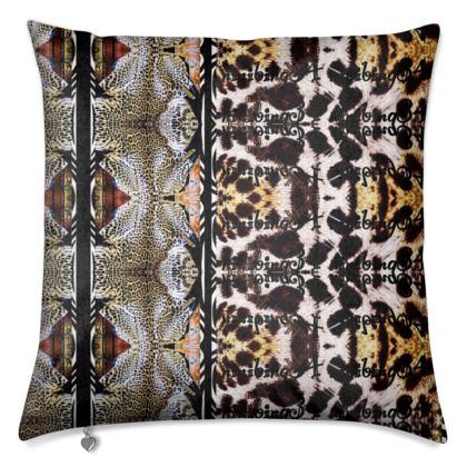Premium Kissen aus schimmerrndem Samt 50 x 50 cm TIGER