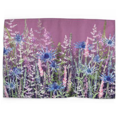 Fairytale Sunset Meadow Tea Towel