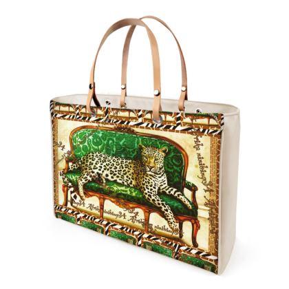 € 346,00 Afrikaans Green Jaguar ninibing34 DESIGN, Handtasche, Shopper Bag, Bag, Designer Bag