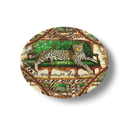 Afrikaans Green Jaguar ninibing34  Porzellan Teller! 20 cm