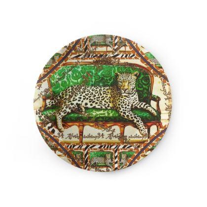 59,- Afrikaans Green Jaguar ninibing34  Porzellan Teller! 20 cm