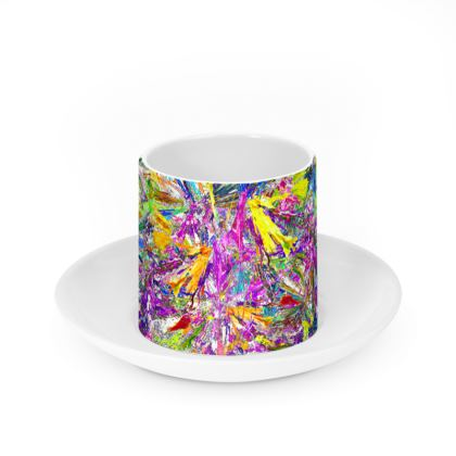 Cup and Saucer -  Wings of Paradise
