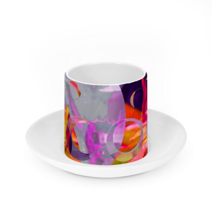 Cup and Saucer - Worlds Apart - Sunset