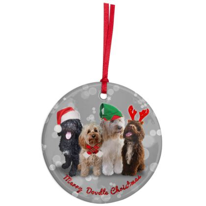 Merry DOODLE Christmas Ornaments