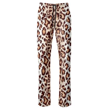 Leopard Print Womens Trousers