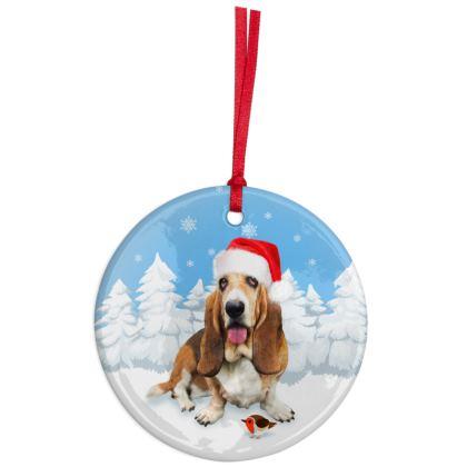 Bassett Christmas Ornaments