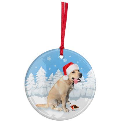 Yellow Labrador Christmas Ornaments