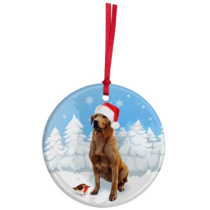 Fox red Labrador Christmas Ornaments