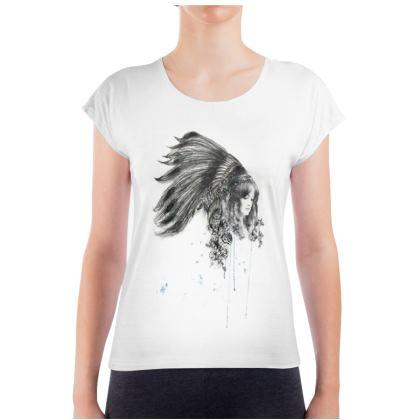 'Fleur De Plumme' Ladies T Shirt
