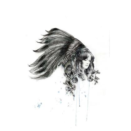 'Fleur De Plumme' Cushion