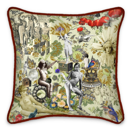 The Muse is Here Silk Cushion
