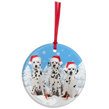 DALMATIAN  Christmas Ornaments