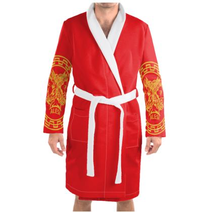 Alesi Apparel Stylish Robes- Red/Gold/White