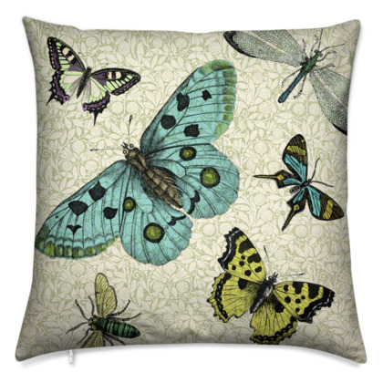 'Flying High' vintage collage cushion
