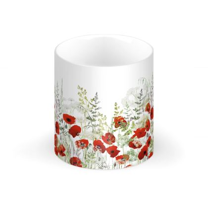 Poppy Field Regular Bone China Mug