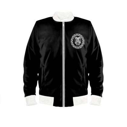 Alesi Custom Bomber Jacket- Black/White/White