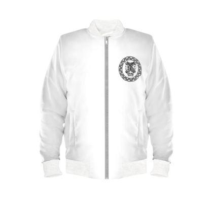 Alesi Custom Bomber Jacket- White/Black/White